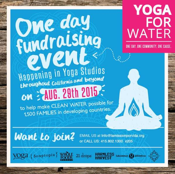 water for life. yoga 8.29